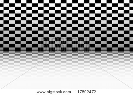 Room In The Style Of A Chessboard.