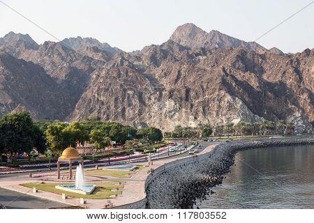 Corniche Road In Muscat, Oman