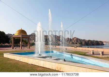 Fountain At The Corniche In Muttrah, Oman