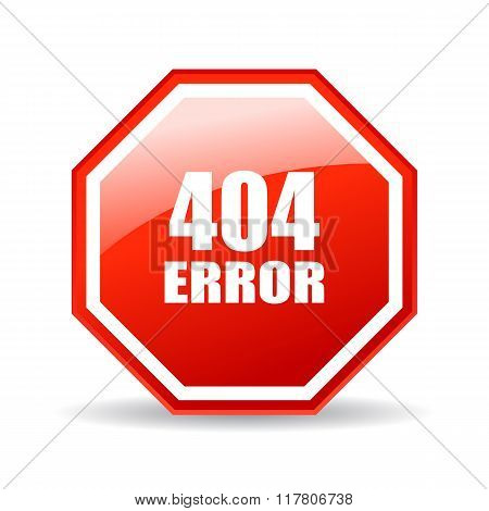 404 error glass icon