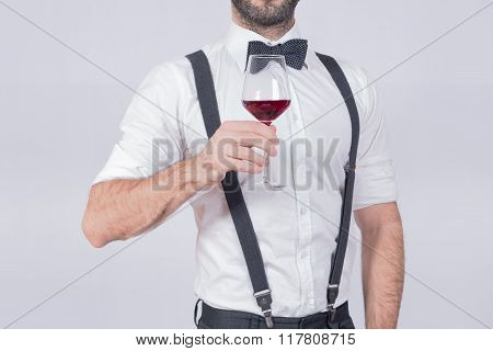 Man and a wine glass