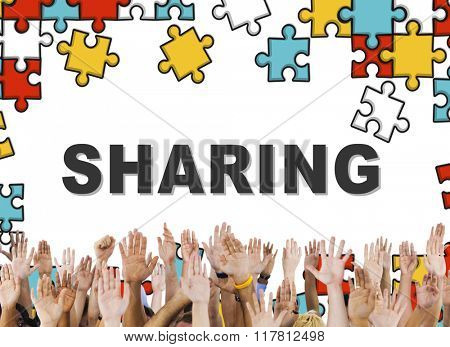 Sharing Share Social Networking Connection Communication Concept
