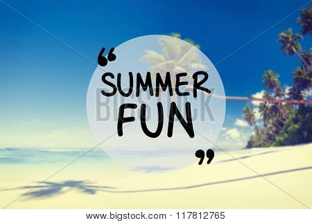 Summer Fun Beach Friendship Holiday Vacation Concept