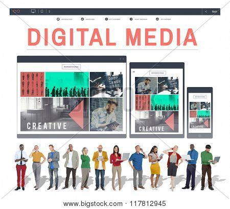 Digital Media Network Multimedia Technology Concept
