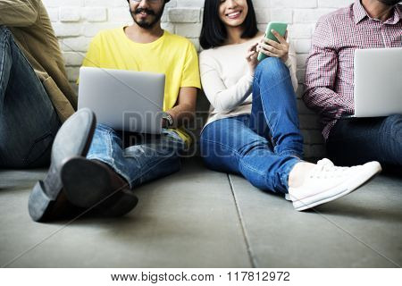 Connection Digital Device Networking Technology Concept