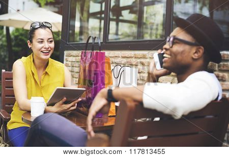 Leisure Commercial Consumer Couple Shopping Concept