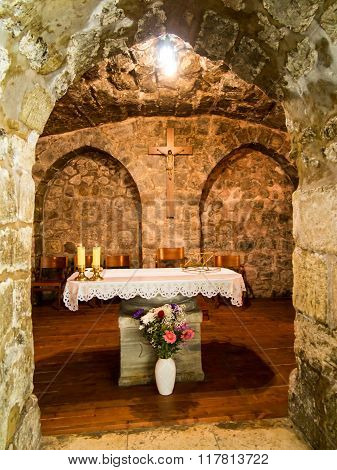 .jerusalem, Israel - July 15, 2015: One Of The Smaller Chapels Within The Basilica Of The Holy Sepul