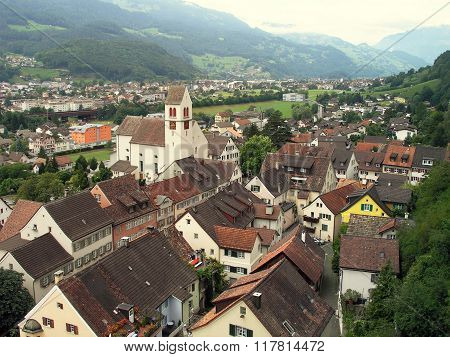 City Vaduz, Principality Of Liechtenstein.