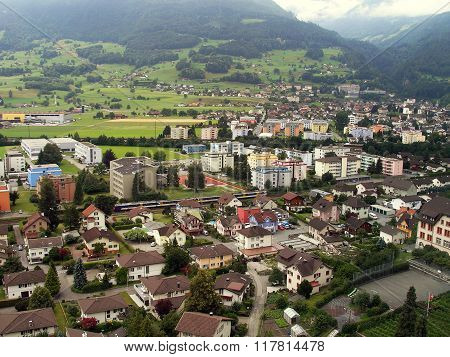 Houses Of City Vaduz.