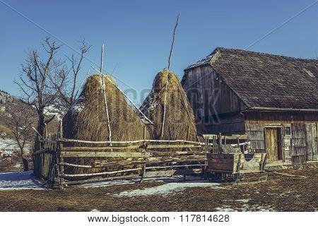 Traditional Romanian Farm