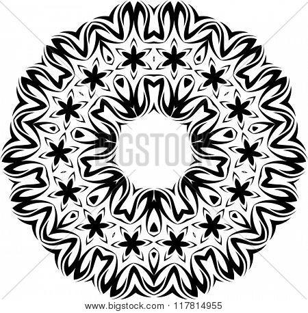 Tribal Tattoo Circular Raster Art