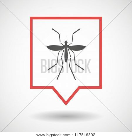 Zika Virus Bearer Mosquito  In A Line Art Tooltip