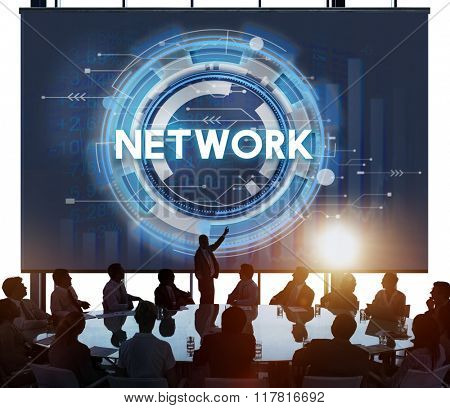 Network Connection System Social Computer Domain Concept