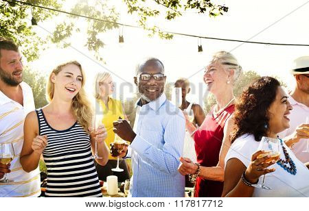 Diverse People Party Togetherness Friendship Concept