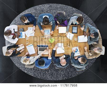 Global Business Teamwork Meeting Working Concept