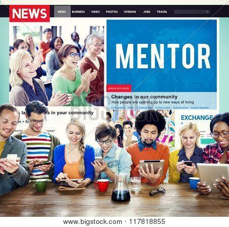 Mentor Mentoring Leadership Guide Coach Concept