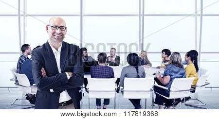 Business People Meeting Leadership Teamwork Concept