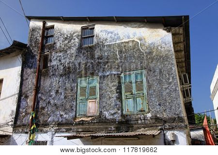 Old Wooden Windows At Stone Town