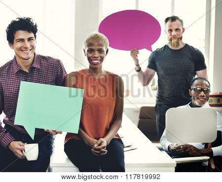 Speech Bubbles Communication Connection Concept