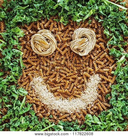 Pasta Man ! Health Food Happiness... With A Rice Smile...