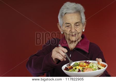 Senior Woman With a Saled