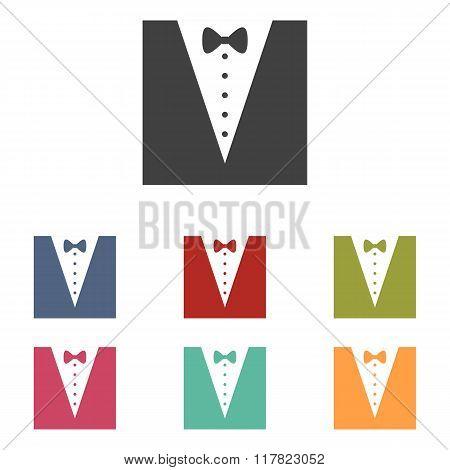Tuxedo with bow