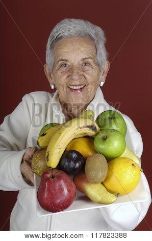 Senior Woman With Fruit