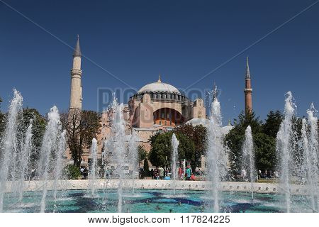 Hagia Sophia Museum In Istanbul City, Turkey