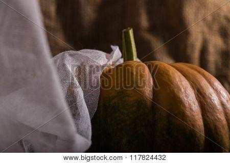 Raw Cucurbita With Cloth
