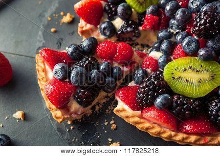 Homemade Key Lime Fruit Tart