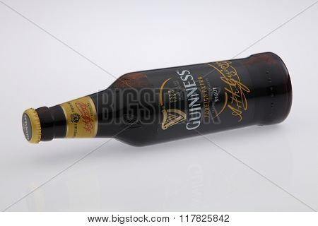Kuala Lumpur Malaysia Jan 12th 2016,guinness stout bottle on the white background