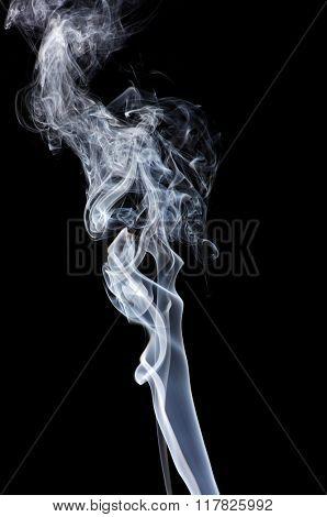 Abstract smoke isolated on black