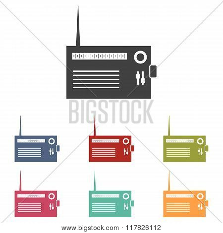 Radio icons set