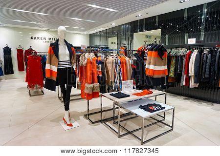 HONG KONG - JANUARY 27, 2016: inside of store at Elements Shopping Mall. Elements is a large shopping mall located on 1 Austin Road West, Tsim Sha Tsui, Kowloon, Hong Kong