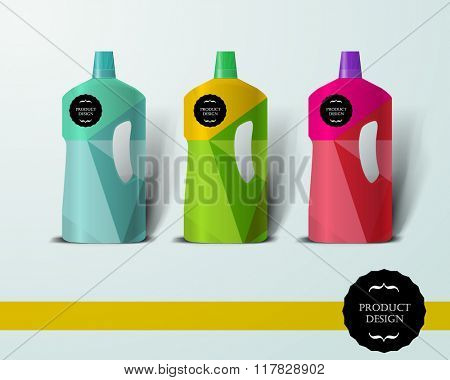 Mockup template for branding and product designs. Isolated realistic bottle with unique design. Easy to use for advertising branding and marketing.