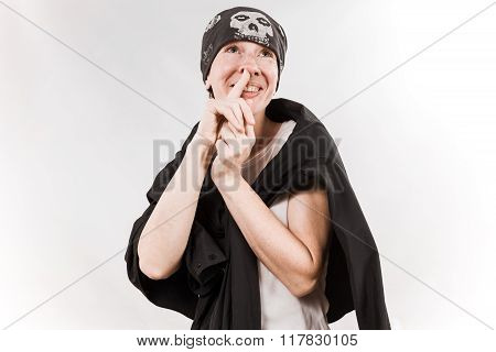 Person Wearing Bandana