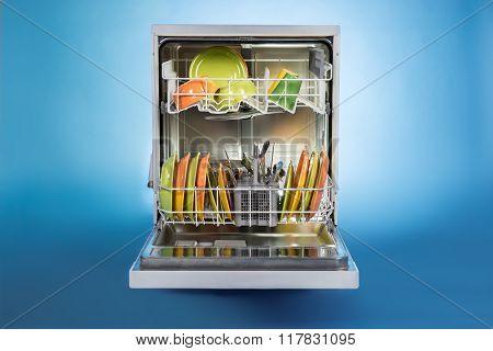 Dishwasher Full Of Utensils