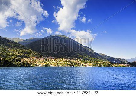 Ossuccio Tremezzina View, Como Lake District Landscape. Italy, Europe.