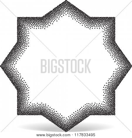 Geometric Shape Stipple Effect Raster Illustration
