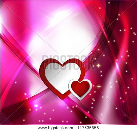 Valentine's day abstract background with hearts