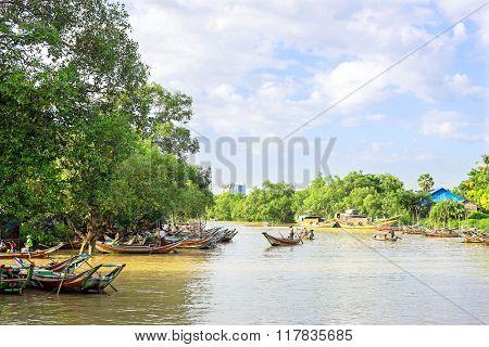 Fishing boats in Myanmar