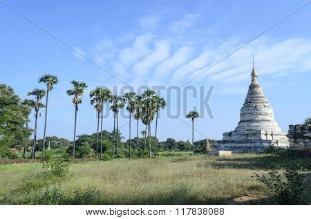 The old pagodas in Bagan, Myanmar (Burma).