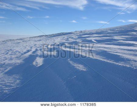 Bergseite im winter
