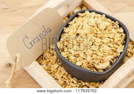 Granola In Bowl.