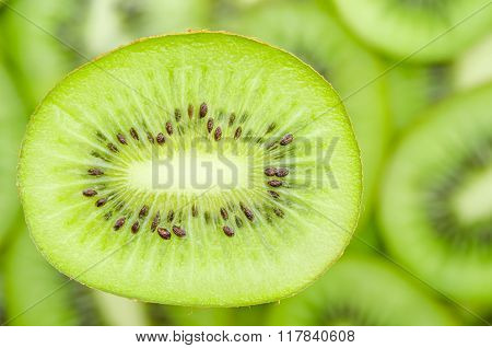 Slices Of Kiwi Fruit.