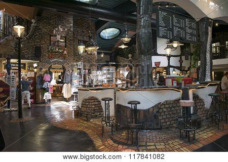 Interior In Hundertwasser Village In Vienna
