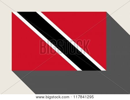 Trinidad and Tobago, flag in flat web design style.