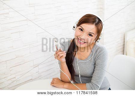 Woman listen to music