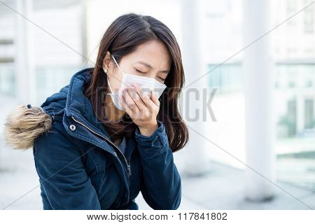 Asian woman want to vomit