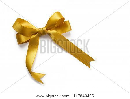Gold Satin Bow Ribbon